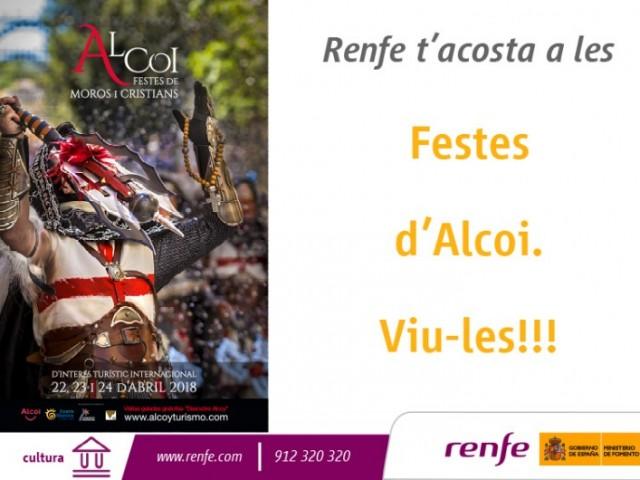 Renfe patrocina les festes de Moros i Cristians d'Alcoi