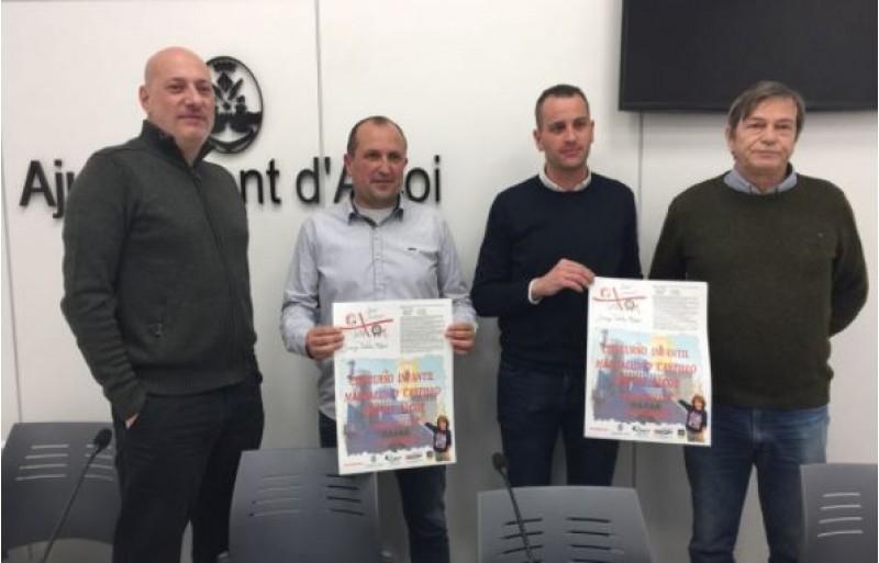 Jordi Peidro, Juanjo Valls, Alberto Belda i Ximo Rosendo en la presentació del concurs / R. Lledó
