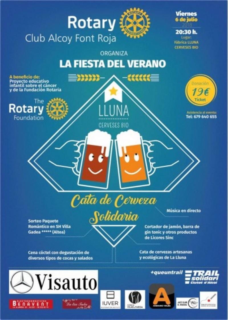 Cartell del tast de cerveses/Rotary Club Alcoy Font Roja