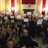 Sindicats policials protestant al plenari de desembre / R. Lledó