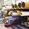 Teles en una fàbrica tèxtil. Imatge lliure