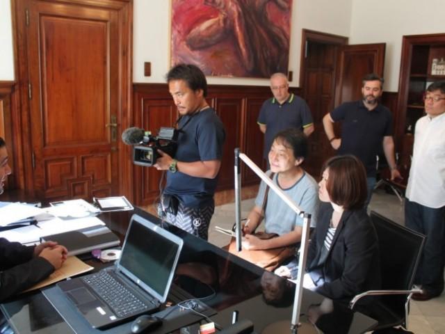 Moment de l'entrevista a Toni Francés / Ajuntament d'Alcoi
