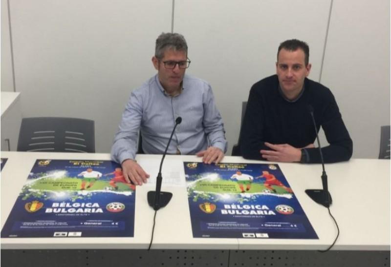 Juan Serrano i Alberto Belda en la presentació del partit / R. Lledó