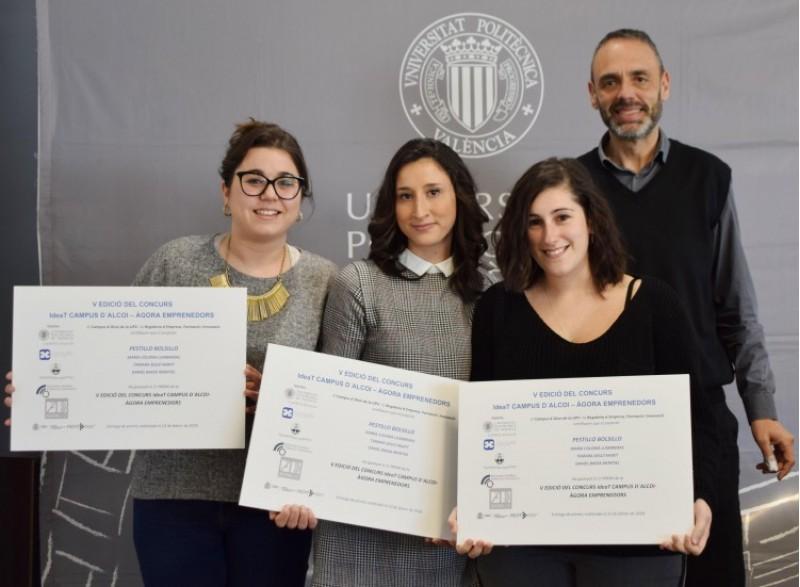 Tres alumnes de l'IES Cotes Baixes guanyadores del 'ideaT UPV Campus d'Alcoi-Àgora Emprenedors' / UPV