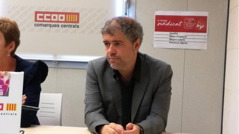 Unai Sordo, secretari general de CCOO, en la seua visita a Alcoi