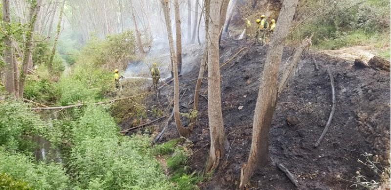 Incendi a Bocairent aquest 7 de juliol. Imatge facilitada pel consistori