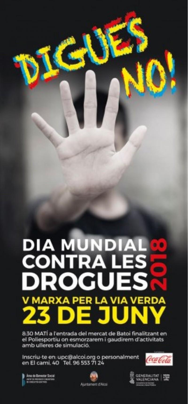 Uneix-te a la marxa pel Dia contra les Drogues a Alcoi / Cartell