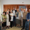 Autoritats locals d'Ibi amb les monges / Ajuntament d'Ibi