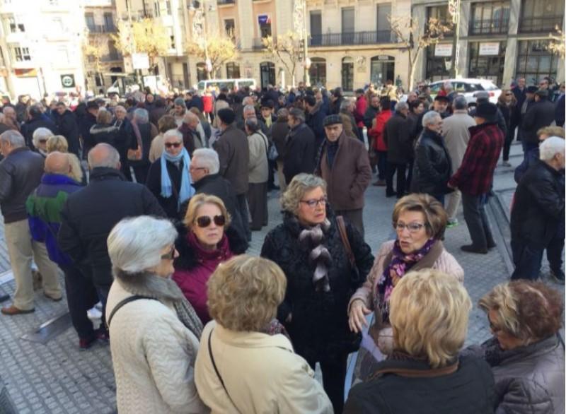 Cocentració a la Plaça d'Espanya / R. Lledó