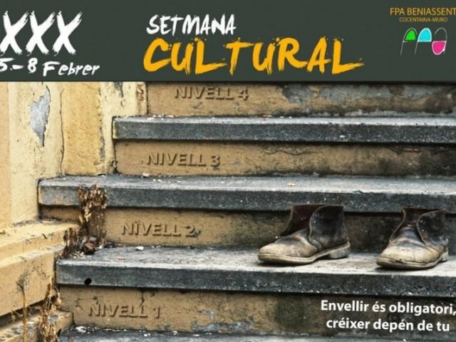 XXX setmana cultural de la mà de FPA Beniassent Cocentaina-Muro / Cartell