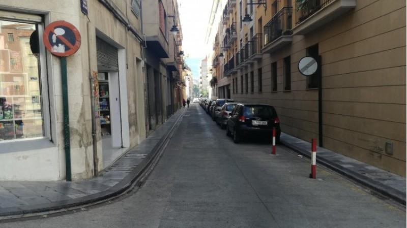 El carrer de Sant Jaume, al centre d'Alcoi