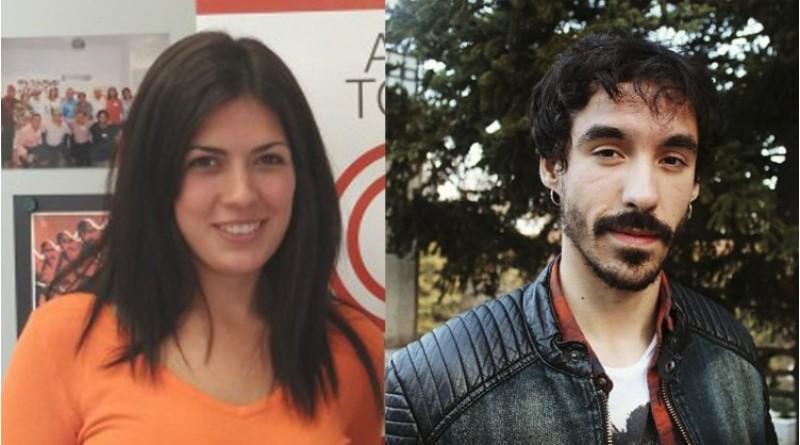 Naiara Davó i Andreu Bernabeu, els dos candidats a la secretaria general de Podem Alcoi
