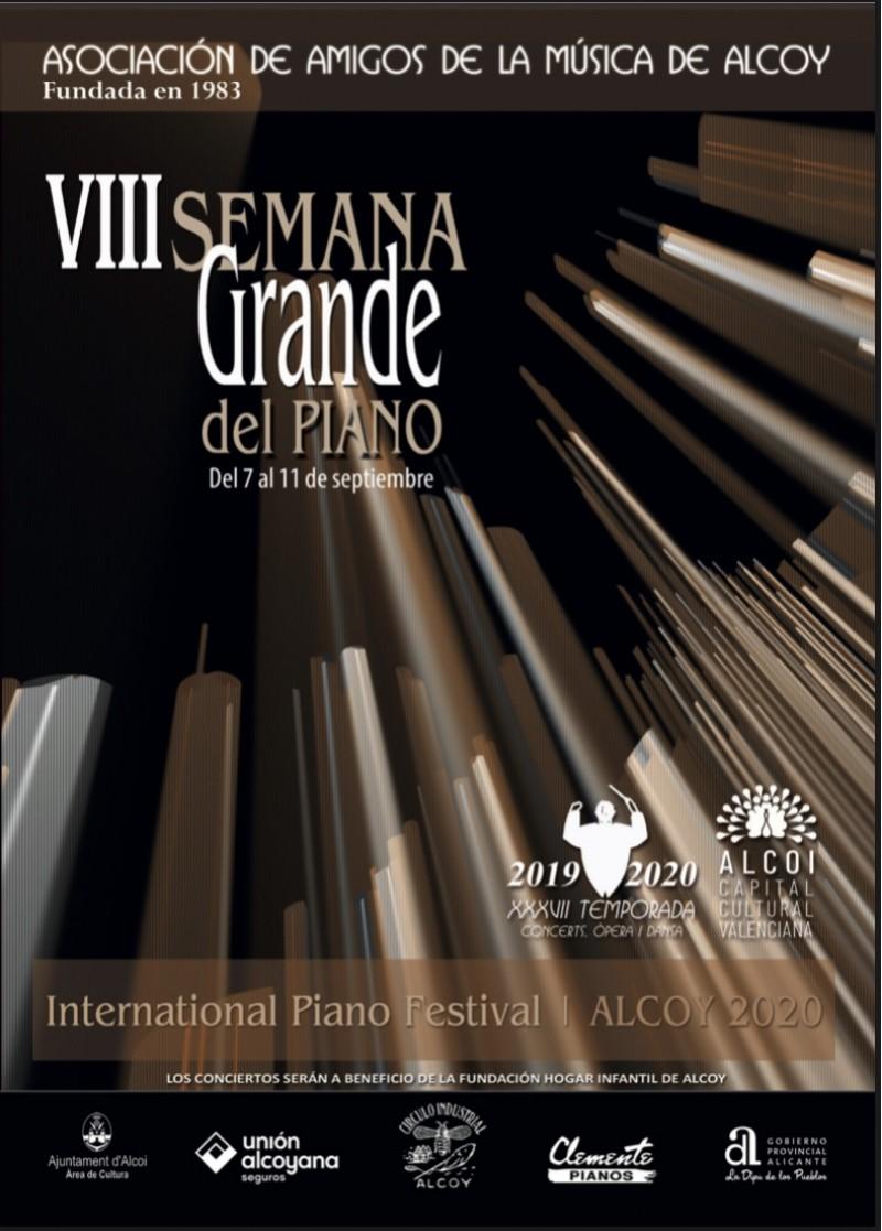 Cartell de la VIII Setmana Gran del Piano
