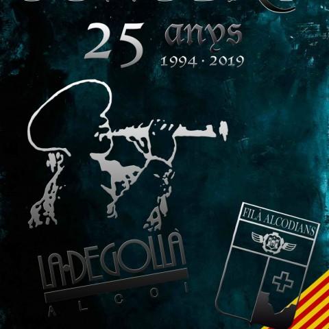 La FilàAlcodianosi la Degollà celebren el seu 25 aniversari junts