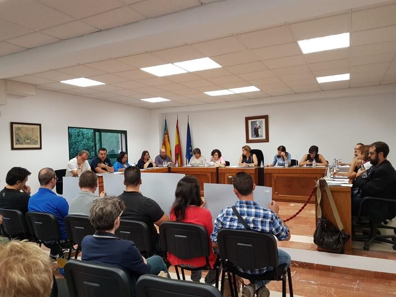 Plenari municipal de l'Ajuntament de Muro.