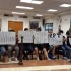 Protesta recent de la Policia Local de Muro al plenari municipal. Imatge d'arxiu