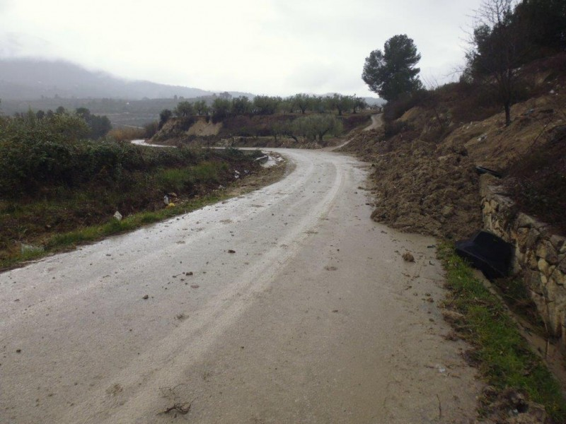 Un dels trams de carretera que serà reparat