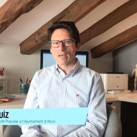 Quique Ruíz és portaveu del Partit Popular a l'Ajuntament d'Alcoi./ AM